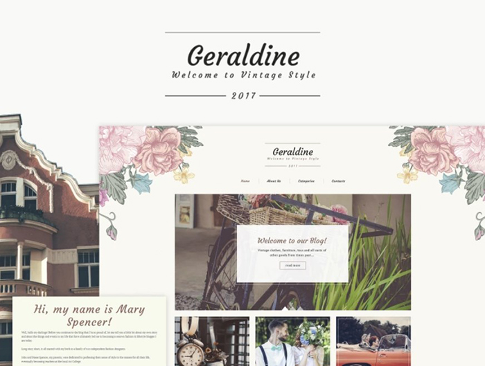 Geraldine - Vintage & Retro Blog WordPress Theme