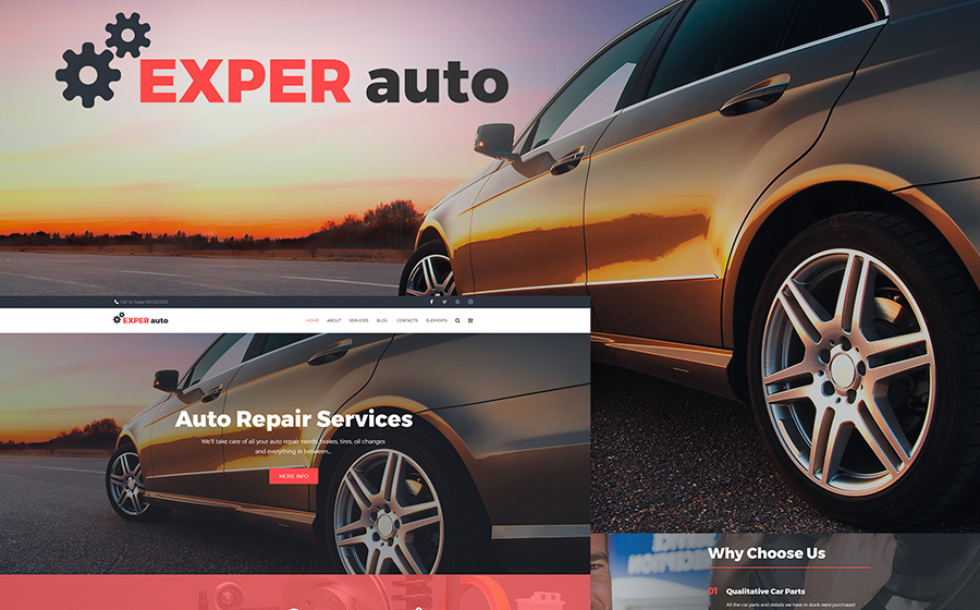 Auto Repair Services Fully Responsive WordPress Theme